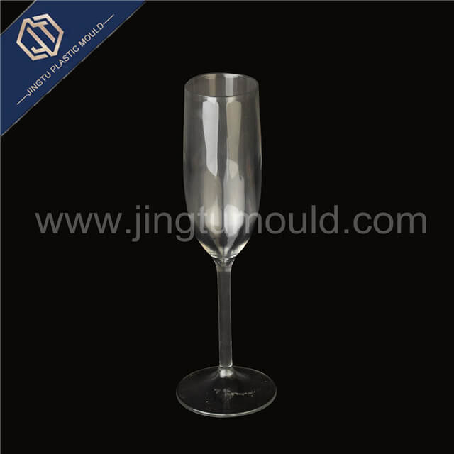 Degradable transparent plastic red wine cup