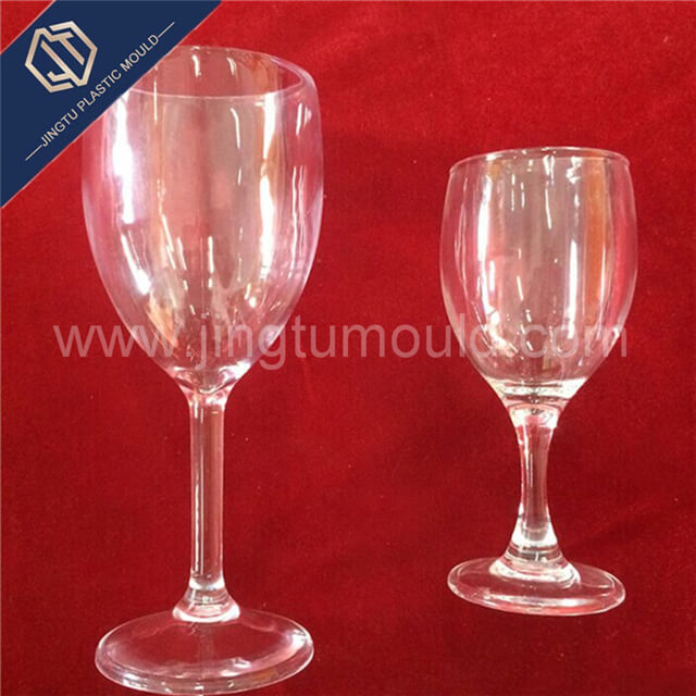 Disposable transparent plastic red wine cup